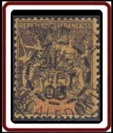 Nouvelle Calédonie 1903-1909 - N° 79 (YT) N° 73 (AM) Oblitéré De 1903. Aminci. - New Caledonia