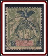 Nouvelle Calédonie 1903-1909 - N° 80 (YT) N° 74 (AM) Oblitéré. Une Dent D'angle Abîmée. - New Caledonia