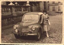 Automobile, Renault 4 Cv, Immatriculation Moselle     (bon Etat)  Dim: 12 X 8.5. - Automobiles
