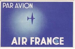 ANTIGUA ETIQUETA DE LA COMPAÑIA AEREA AIR FRANCE (AVION-PLANE) - Baggage Etiketten