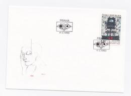 ENVELOPPE PREMIER JOUR DU 11/03/1993 - EUROPA - ART CONTEMPORAIN - FDC