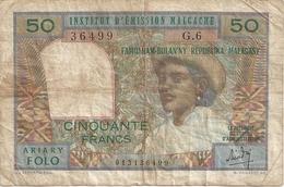 Madagascar 50 Francs (non Datè) - Madagascar
