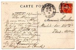 TERRITOIRE De BELFORT - Dépt N° 90 = BELFORT GARE 1911 = CACHET  MANUEL A4 - Marcophilie (Lettres)