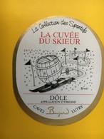 8848 - La Collection Des Sportifs La Cuvée Du Skieur Dôle Bujard Suisse Illustration Pécub - Humour