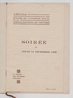 Verviers 1933 Amicale Des élèves De L' Athénée Royal & De L' Ecole Moyenne - Programmi