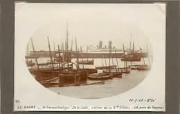"""LE HAVRE (seine  Maritime) - Le Transatlantique """"de La Salle""""  ,dans Les Années 20 ( Photo Format 11,7cm X 8,4 Cm). - Boten"""