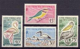 Naa0911 FAUNA VOGELS BEE-EATER FLAMINGO PELICAN BIRDS VÖGEL AVES OISEAUX COTE FRANCAISE DE SOMALIS 1959 ONG/MH + PF/MNH - Birds