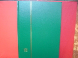 ALBUMS LEUCHTURM 16 PAGES NOIRES NEUF QUALITE ALLEMANDE COUVERTURES VERTES - Grand Format, Fond Noir