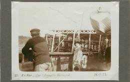 EN MER - Sur L'Augustin Normand ,dans Les Années 20 ( Photo Format 11,5cm X 8,4 Cm). - Boats