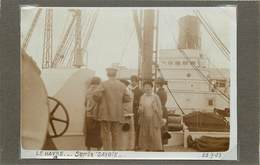 """LE HAVRE (seine Maritime) - Sur Le Paquebot """" La Savoie"""" ,dans Les Années 20 ( Photo Format 11,6cm X 8,3 Cm). - Bateaux"""