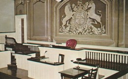 Court Room In Victoria Hall, Cobourg, Ontario A Replica Of The Famous Old Bailey, In London England - Ontario