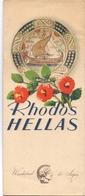 Brochure Dépliant Faltblatt Toerisme Tourisme - Rhodos - Hellas - 1953 - Tourism Brochures