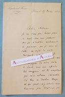 L.A.S 1873 Pierre LANFREY Politique Né CHAMBERY - BERNE (Suisse) - Lettre Autographe LAS - Décédé à PAU - Autographes