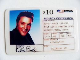 Rare Phonecard USA Singer Music Pop Elvis Presley $10 Amerivox - Stati Uniti