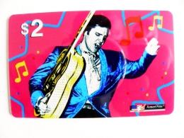 Rare Phonecard USA Singer Music Pop Elvis Presley $2 Amerivox - Stati Uniti