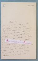 L.A.S Ernest LEGOUVE - Ecrivain Poète - Gréard - Lettre Autographe LAS - Né à Paris - Autografi