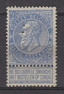 BELGIE 1893   OBP   60  X    MH/VF   ,  See  Scan      [1865  ] - 1893-1900 Fine Barbe