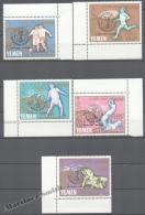 Yemen 1966 Yvert 232-36, Summer Olympic Games Tokyo - Overprinted World Cup Winner - MNH - Yemen