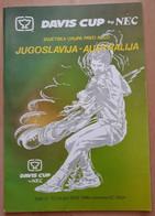 Davis Cup Jugoslavija-Australija Split 8-10 Ozujka 1985 Program - Livres