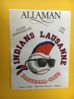 8852 -  Indians Lausannne Baseball-Club 1990-1995 Suisse Gérard Vontobel Allaman - Etiquettes