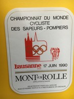 8858 -  Championnat Du Monde Cycliste Des Sapeurs-pompiers Lausanne 1990 Suisse Mont-sur-Rolle - Fahrräder