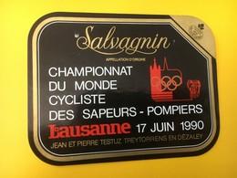 8859 -  Championnat Du Monde Cycliste Des Sapeurs-pompiers Lausanne 1990 Suisse Salvagnin - Fahrräder