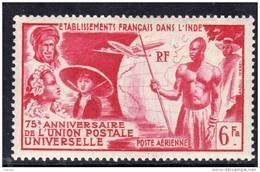 Inde P.A. N° 21 X  75ème Anniversire De L'U.P.U. Trace De Charnière Sinon TB - India (1892-1954)