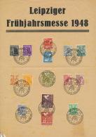 Gemeinschaftsausgaben 15 Werte Aus 943/61 Auf Sonderblatt Messe Leipzig 1x Gefaltet - Gemeinschaftsausgaben