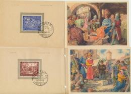 Gemeinschaftsausgaben 941/42 Auf 2 Klappkarten Messe Leipzig 1947 - Gemeinschaftsausgaben