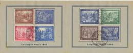 Gemeinschaftsausgaben 941/42,965/66,967/68 SBZ198/99 Auf Messe-Klappkarte - Gemeinschaftsausgaben
