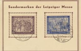SBZ 198/99 Auf Sonderkarte Messe Leipzig 1948 Sonderstempel - Sowjetische Zone (SBZ)