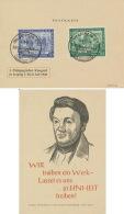 Gemeinschaftsausgaben 967/68 Auf Karte Sonderstempel Pädagogischer Kongreß 1948 - Gemeinschaftsausgaben
