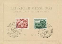 DDR 380/81 Auf Messesonderkarte Sonderstempel Leipzig - DDR