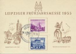 DDR 447/48 Auf Messesonderkarte Sonderstempel Leipzig - DDR