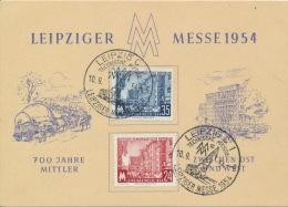 DDR 433/34 Auf Messesonderkarte Sonderstempel Leipzig - DDR