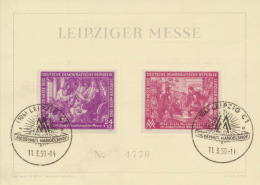 DDR 248/49 Auf Messesonderkarte Sonderstempel Leipzig - Briefe U. Dokumente