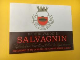 8860 -  Réserve  Du Curling Club Lausanne Suisse Salvagnin & Epesses 2 étiquettes - Etiquettes