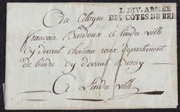 """GRANDE ARMÉE. 1795. BREST A LINDRE. MARCA """"I.DIV. ARMÉE/DES CÔTES DE BREST"""". CARTA COMPLETA. MAGNÍFICA. - Sellos De La Armada (antes De 1900)"""