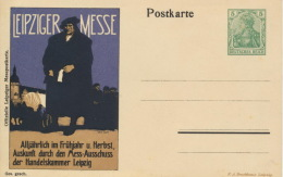 Deutsches Reich Privatganzsache PU26 Mit Zudruck Messe Leipzig * - Deutschland
