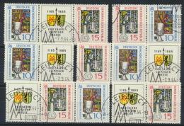 DDR 6 Zusammendrucke Aus 1052/53 O Sonderstempel - DDR