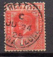 SIERRA LEONE ( POSTE ) : N° Y&T  110  TIMBRE  BIEN  OBLITERE  . - Sierra Leone (...-1960)