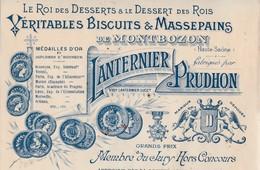 Petite Facture 1909 / Biscuits & Massepains / Le Roi Des Desserts / LANTERNIER PRUDHON / 70 Montbozon - France