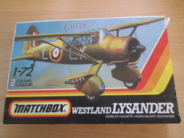 MAQUETTE COLLECTOR MATCHBOX WESTLAND LYSANDER : COMPLET PIECES TOUJOURS SUR GRAPPES - Airplanes