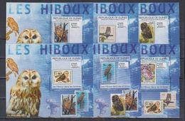 C3.Guinee - MNH - Birds - Owls - DELUX - Owls