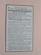 DP Z.E.H. Bernard JANSSENS () Antwerpen 15 Dec 1895 - 7 April 1957 BORSBEEK ( Zie Foto's ) ! - Décès