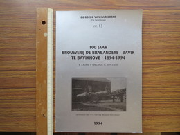 BOEK G 001 - DE ROEDE VAN HARELBEKE NR 13 - 100 JAAR BROUWERIJ DE BRABANDERE BAVIK TE BAVIKHOVE - History
