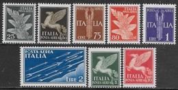 Italia Italy 1930 Regno Soggetti Allegorici Aerea Sa N.A10-A17 Completa Nuova MH * - 1900-44 Vittorio Emanuele III