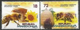 MK 2017-10 HONEYBEES, MACEDONIA MAKEDONIJA, 1 X 2v, MNH - Api