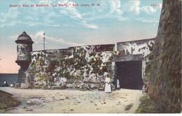 POSTAL DE SENTRY BOX AT BASTION LA PERLA DE SAN JUAN (PUERTO RICO) (GONZALEZ PADN HNOS) - Puerto Rico