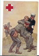 Wtb219 / Württemberg, Rot-Kreuz, Offizielle Kartevon 1914, Aufgebraucht 1921 Als Postsache Nach Rottweil - Allemagne